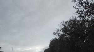 Dark skies all around