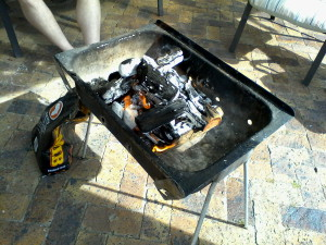 Making preparations for the braai